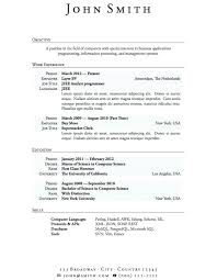 Basic Resume Examples For Students Functional Template College
