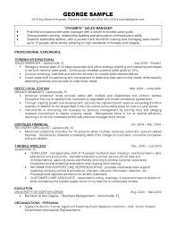 Resume Examples Manager Example Sales Resume For Sales Executive