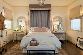 Bedrooms Mediterranean Bedroom With Double Modern Table Lamps