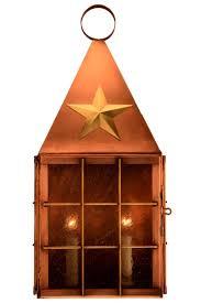 americana colonial copper lantern wall sconce light