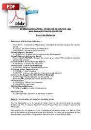 bureau d une association compte rendu du bureau de l association du 25 janvier 2013