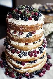 Mixed Berry Naked Wedding Cake Deerpearlflowers