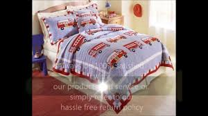 Cotton Fire Truck Bedding By My World - YouTube