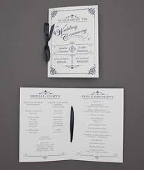 Ornate Vintage Type Wedding Program Booklet