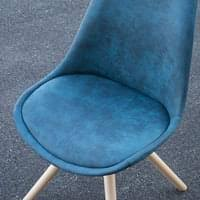svita 2er set esszimmerstühle retro blau stuhl kunstleder holz