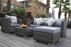 new rattan garden furniture sofa table chairs grey patio