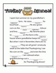 Halloween Mad Libs Pdf by Thanksgiving Mad Libs From Classroom Junior Pinned By