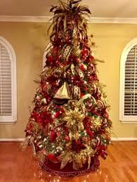 Burgandy And Gold Christmas Tree Designed By Arcadia Floral Home Decor