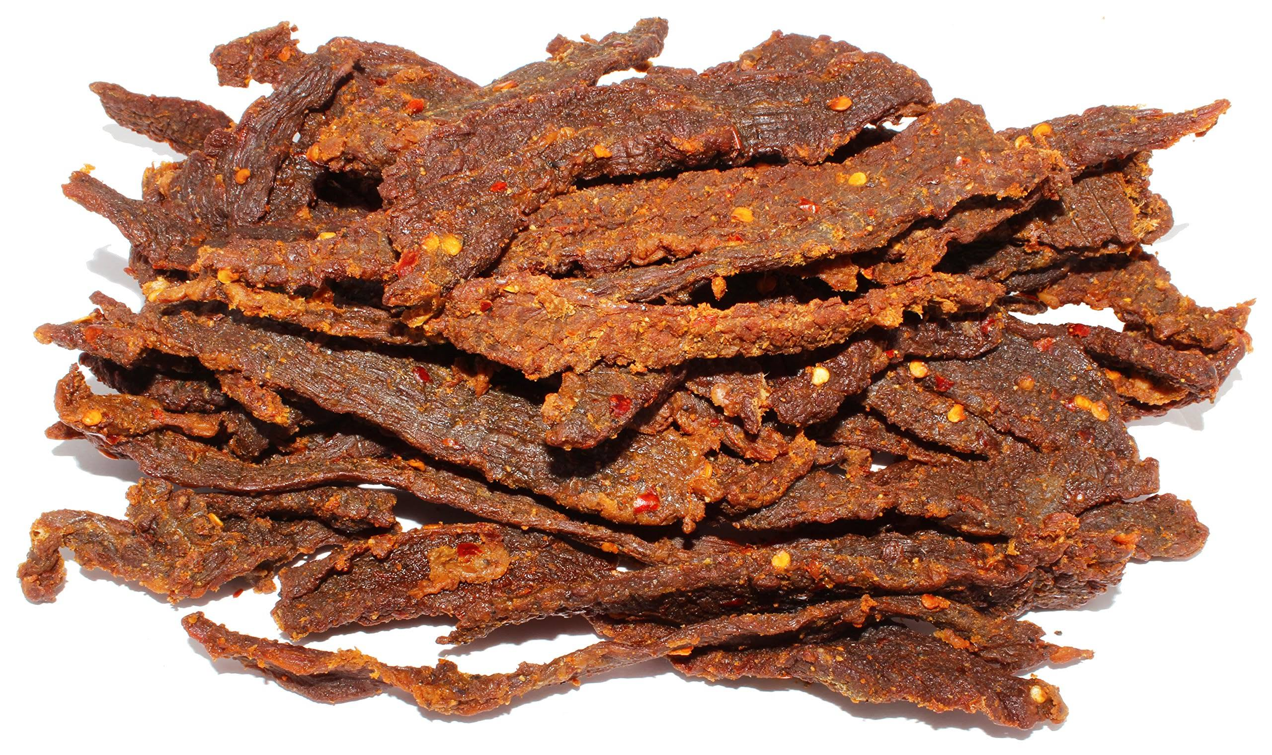 People's Choice Beef Jerky - Carne Seca - Limn Con Chile - Sugar-Free, Carb-Free, Gluten-Free, Keto-Friendly Meat Snack - 1 lb Bag