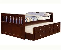 mission full size captains trundle bed cappuccino bedroom