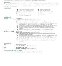 Social Work Resume Sample Collection Of Solutions Examples Career Worker Fine School