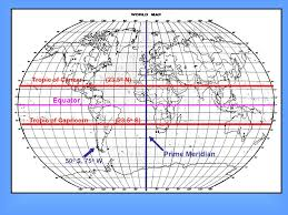 Latitude The Equator Is Reference Line