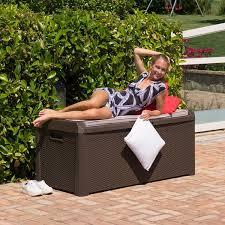 Suncast Db5000 50 Gallon Deck Box by Amazon Com Toomax Santorini 148 Gallon Wicker Style Outdoor Deck