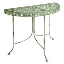 Semi Circle Patio Furniture by Round Half Table Starrkingschool