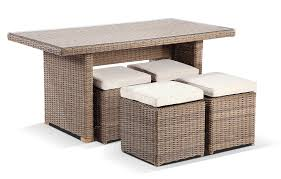 Patio Furniture With Hidden Ottoman by Furniture Creative Wicker Ottoman Design For Your Living Room