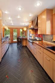 groutless tile kitchen contemporary with accent tiles breakfast