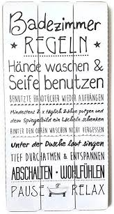 bada plankenschild badezimmer regeln ca 60 x 30 cm deko wandbild holz schild vintage 18