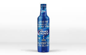 Bud Light Super Bowl XLIX Limited Edition Bottle on Packaging of