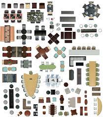 Furniture Plan View Psd
