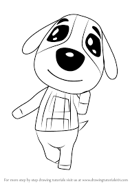Learn How to Draw Cookie from Animal Crossing Animal Crossing Step by Step Drawing Tutorials