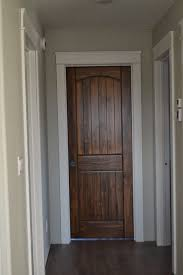 I Love How The Simple But More Substantial White Trim Makes Wood Doors Pop