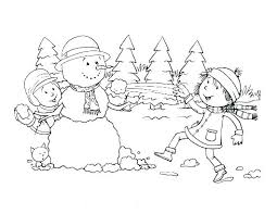 Winter Clothes Coloring Pages Preschoolers Colouring Sheets