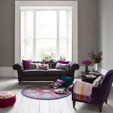 Gray And Purple Living Room