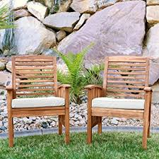 Amazon Prime Patio Chair Cushions by Amazon Com Walker Edison Furniture Company Solid Acacia Wood