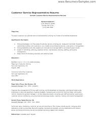 Sample Customer Service Resume No Experience Representative