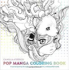 POP MANGA COLORING BOOK REVIEWED