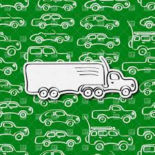 100 Paper Truck Simple Seamless Pattern With White Cars And Paper Truck Vector