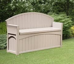 bench suncast patio storage bench suncast ultimate gallon resin