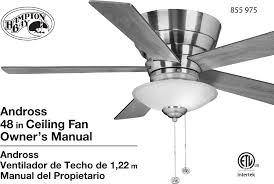 Intertek Ceiling Fan Manual by Hampton Bay 14939 Installation Guide
