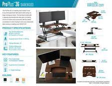 Varidesk Pro Plus 36 by Height Adjustable Standing Desk Varidesk Pro Plus 36 U2013 Darkwood