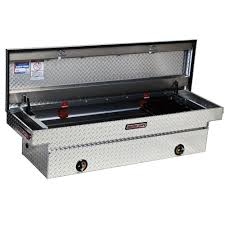 100 Truck Tool Boxes Black Diamond Plate Weather Guard FullSize Aluminum Saddle Box127002 The Home Depot