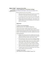 Sample Resume For Customer Service Representative