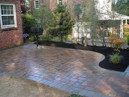 how to lay a garden patio basket weave patio pavers cheap outdoor pit how much does it