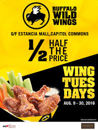 Buffalo Wild Wings Tuesday Specials / New Deals Buffalo Wild Wings Survey Recieve Code For Free Stuff Coupon Code Sweatblock Is Buffalo Wild Wings Open On Can You Use Lowes Coupons At Home Depot Gnc Discount How Much Are The Bath And Body Tuesday Specials New Deals Best Healthpicks Coupon Silvertip Tree Farm Coupons 1 Promo Codes Updates Prices September 2018 Sale Over Promo Motel 6 Colorado Springs National Chicken Wing Day 2019 Get Free Lasagna Freebies Discounts Game Food Find 12 Cafe Zupas Codes October