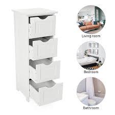badezimmerschrank schmaler badschrank schrank 30 30 82cm 4 schubladen weiß
