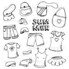 Summer Clothes Coloring Pages Free Printable New On Beach