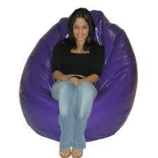 Large Wet Look Purple Vinyl Chair