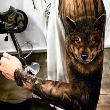 Wolf Head Tattoos On Wrist And Inner Arm Looking Cool