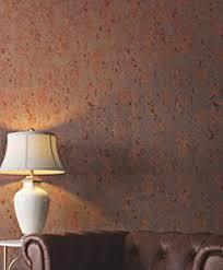 tapete kupfer uni industrial braun glänzend schlafzimmer