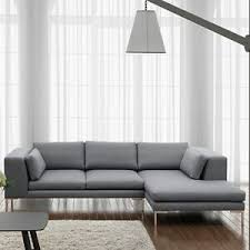 details zu ecksofa zimase sofa eckcouch mit metalfüße wohnzimmer grau polstersofa