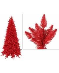 9 Slim Christmas Tree Prelit by On Sale Now 20 Off 9 U0027 Pre Lit Slim Red Ashley Spruce Artificial