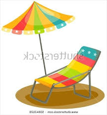 Retro Patio Umbrella Comfortable Cartoon Deck Chair Stock Photos Images Pictures