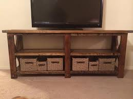 Captivating Rustic Tv Console Table With Ana White X Diy Projects