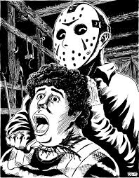 Jason Voorhees Pumpkin Stencil Free by Jason Voorhees Kills Shelly From Friday The 13th Part 3