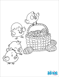 Faberge Egg Chicks Basket And Coloring Page