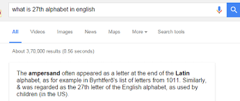 What is the 27th letter of the English alphabet